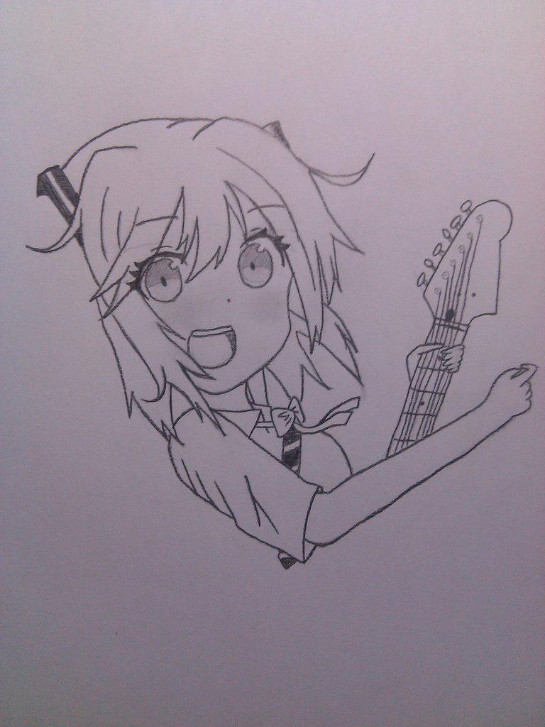 Рисуем Хатсуне Мику с гитарой в руках - шаг 5