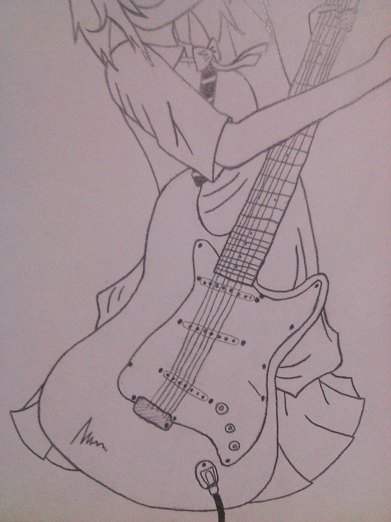 Рисуем Хатсуне Мику с гитарой в руках - шаг 7