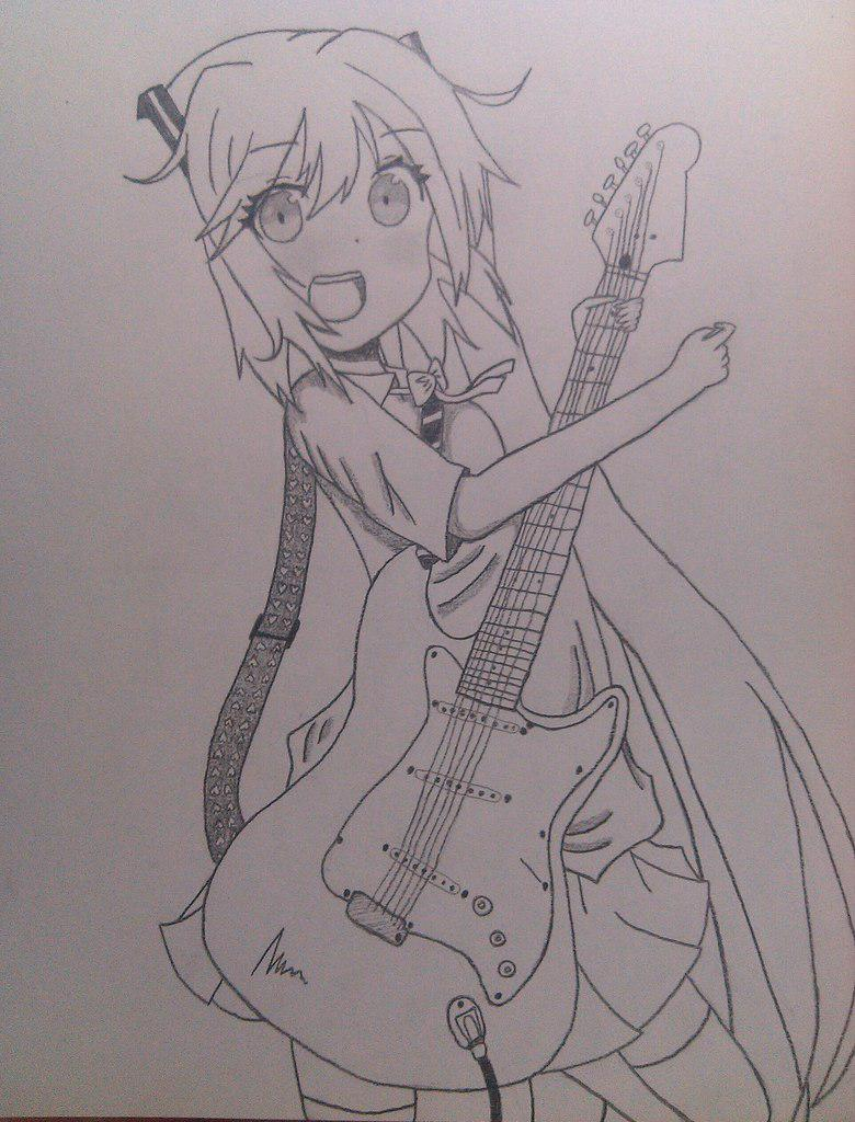 Рисуем Хатсуне Мику с гитарой в руках - шаг 8