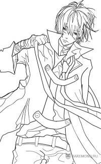 Хибари Кёя из аниме Reborn карандашом