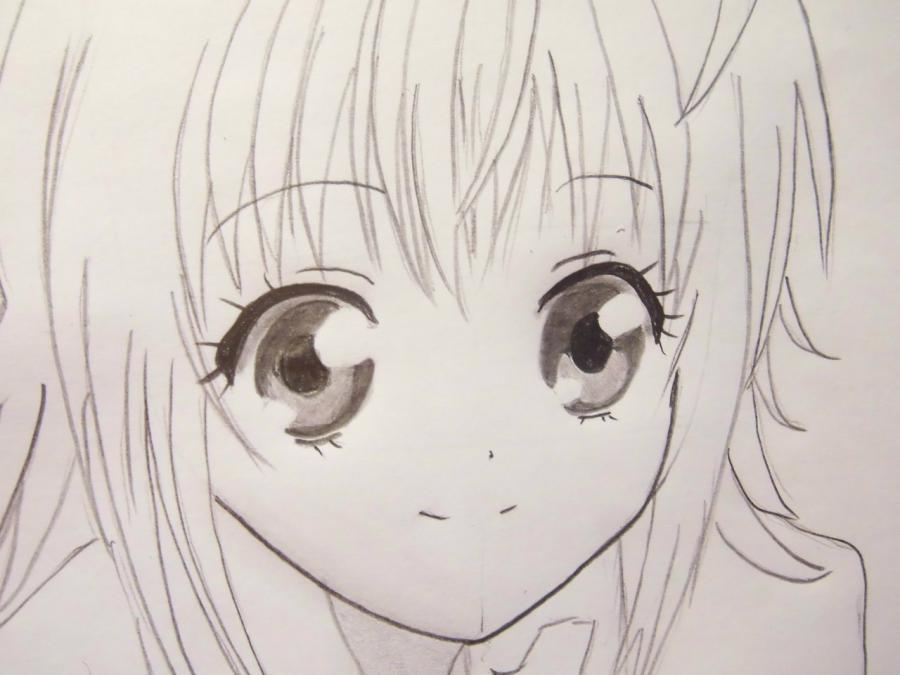 Рисуем Хинамори Аму из аниме Чара-хранители