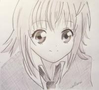 Хинамори Аму из аниме Чара-хранители карандашом