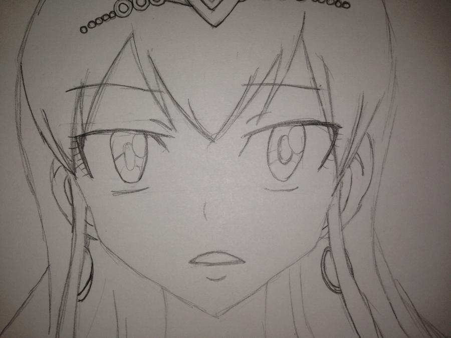 Рисуем Хисуи Е. Фиор из Fairy Tail - шаг 10