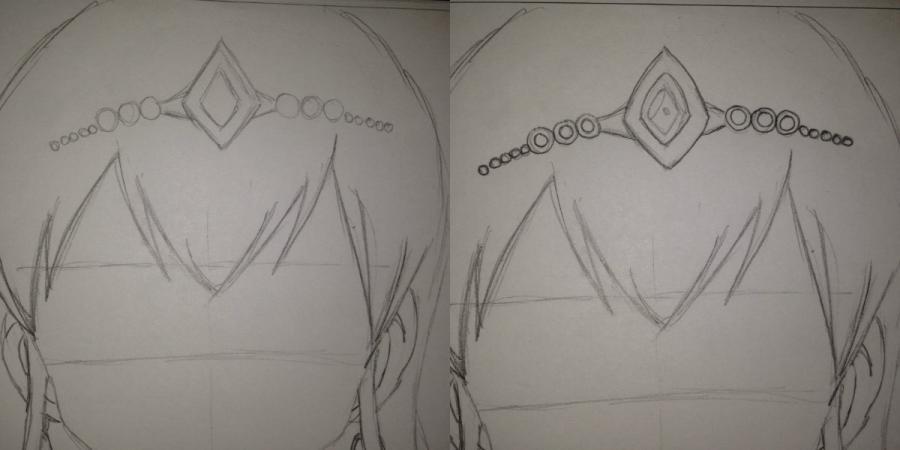 Рисуем Хисуи Е. Фиор из Fairy Tail - шаг 9