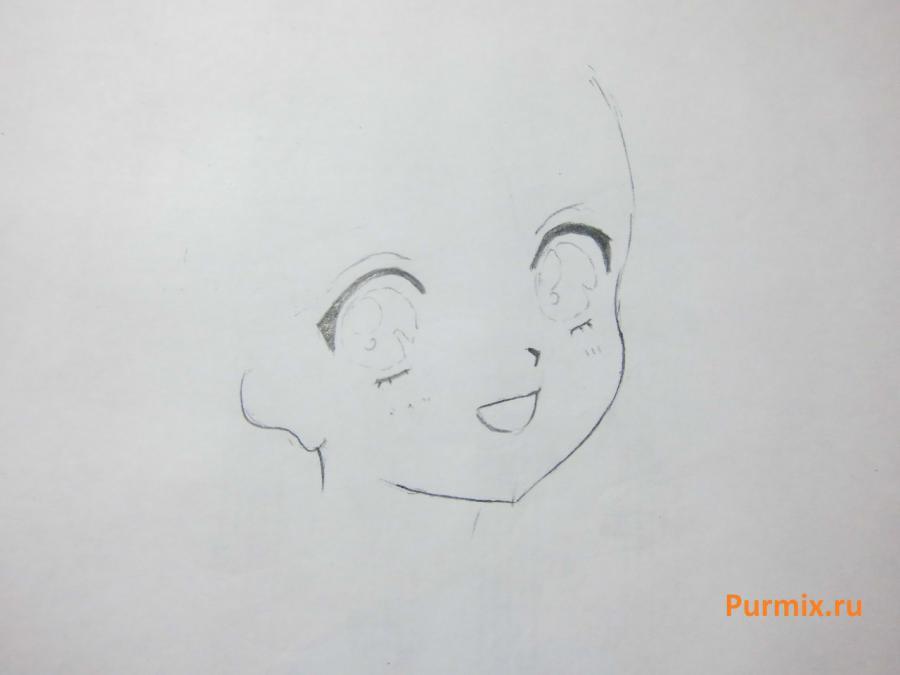 Рисуем Хотару Томо из Сейлор Мун простым