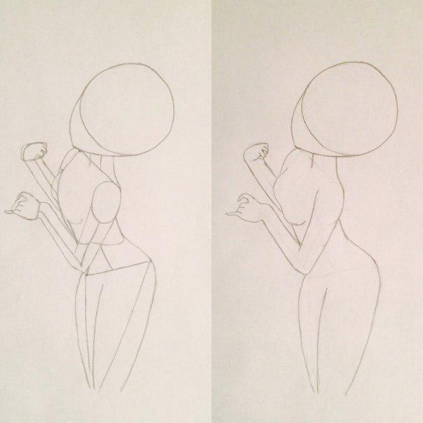 Рисуем и раскрасить аниме девушку-лисичку - шаг 4