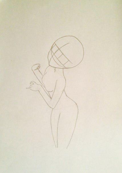 Рисуем и раскрасить аниме девушку-лисичку - шаг 5