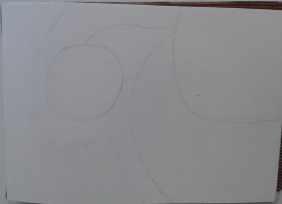 Рисуем и раскрасить Наруто цветными карандашами - шаг 1