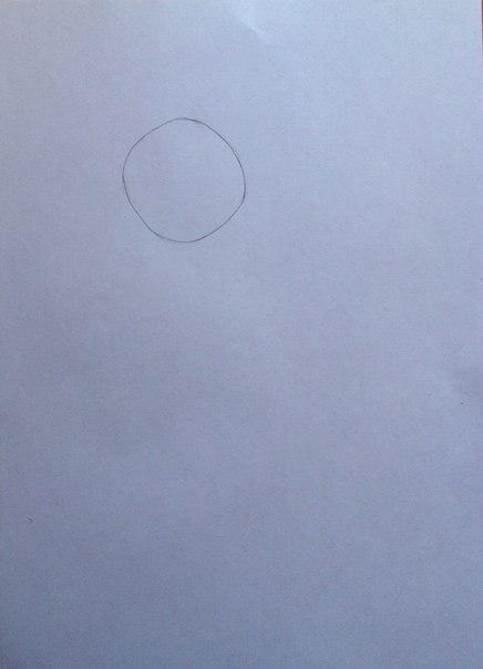 Рисуем Сию из Вокалоидов карандашами - шаг 1