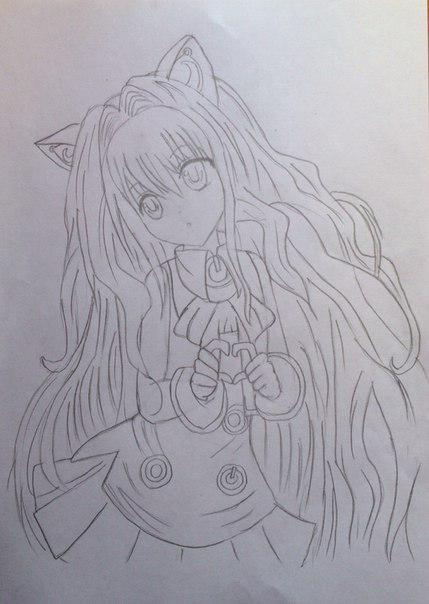 Рисуем Сию из Вокалоидов карандашами - шаг 10