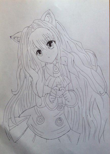 Рисуем Сию из Вокалоидов карандашами - шаг 11