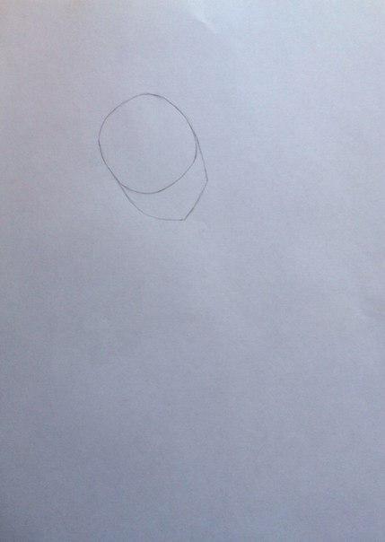 Рисуем Сию из Вокалоидов карандашами - шаг 2