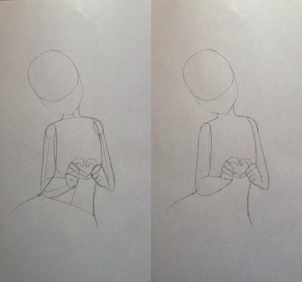 Рисуем Сию из Вокалоидов карандашами - шаг 4
