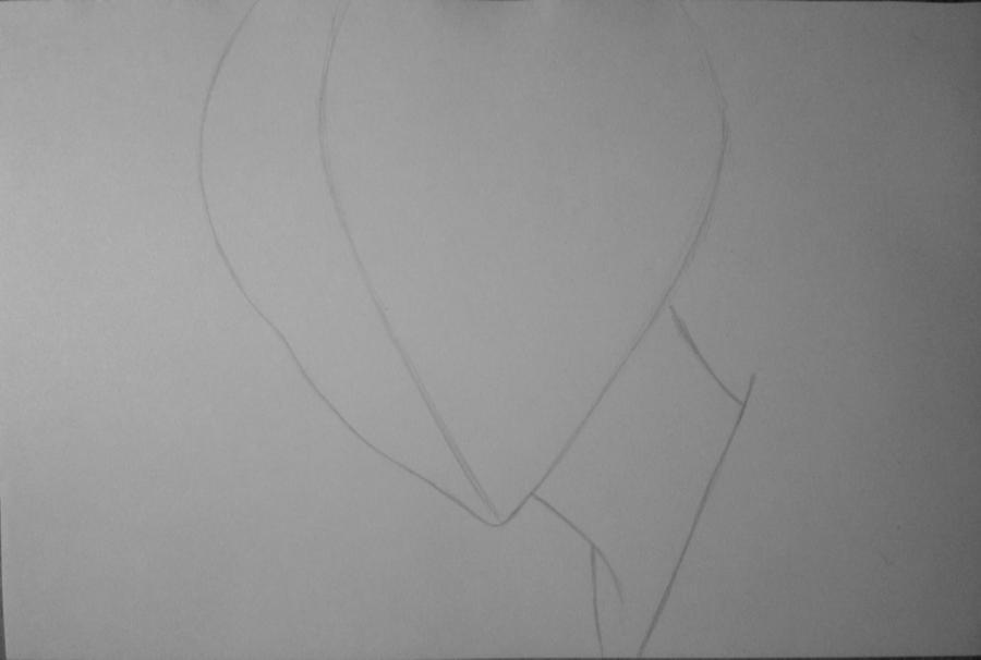 Рисуем и раскрасить Томоэ карандашами - шаг 1