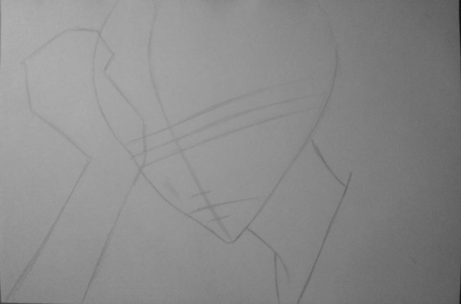 Рисуем и раскрасить Томоэ карандашами - шаг 3