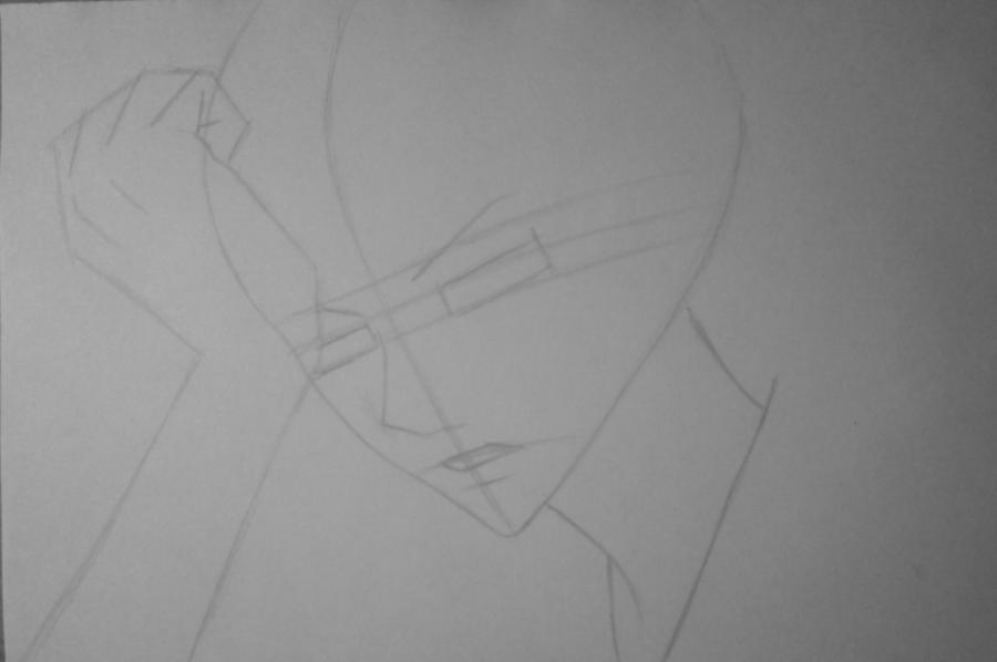 Рисуем и раскрасить Томоэ карандашами - шаг 4