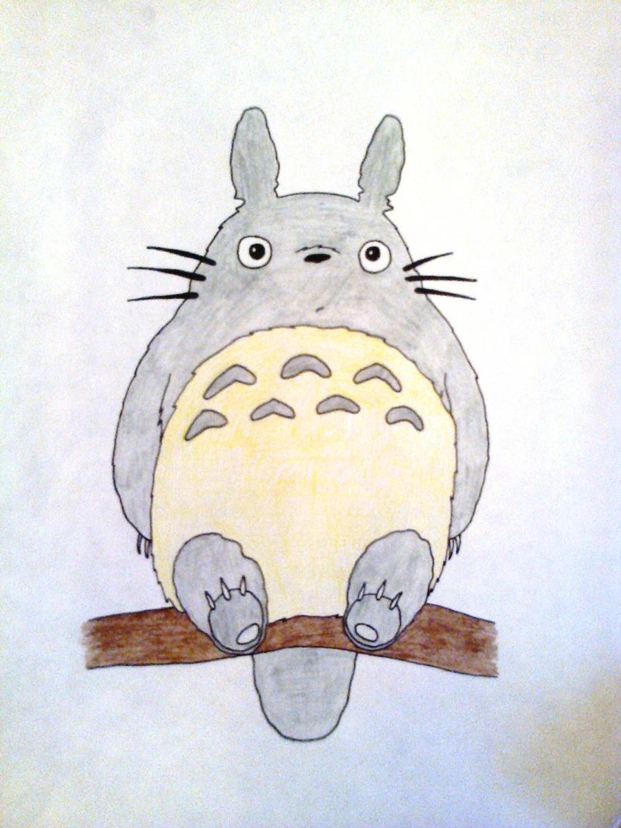 Рисуем Тоторо из аниме Мой сосед Тоторо - шаг 5