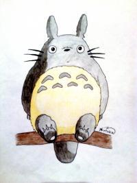 Рисунок Тоторо из аниме Мой сосед Тоторо