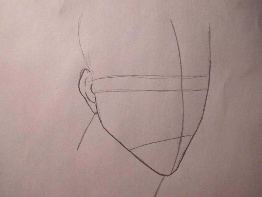 Учимся рисовать Ичиго Куросаки из Блич - шаг 1