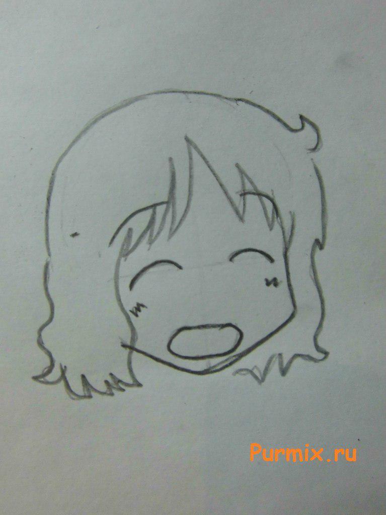 Рисуем Идзуми Сакураи из аниме Мелочи жизни