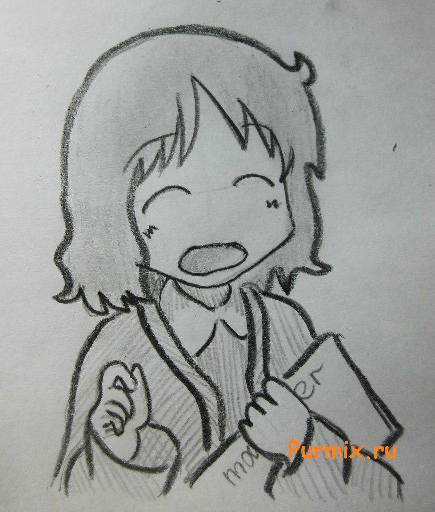 Как нарисовать Идзуми Сакураи из аниме Мелочи жизни