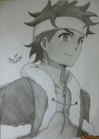 Иэясу из аниме Убийца Акаме