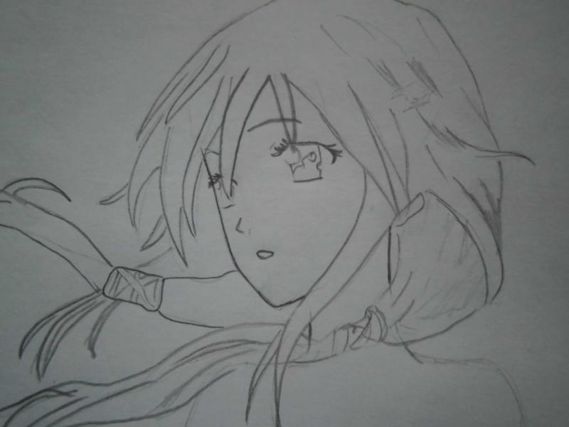 Рисуем Инори Юдзуриху из Guilty Crown