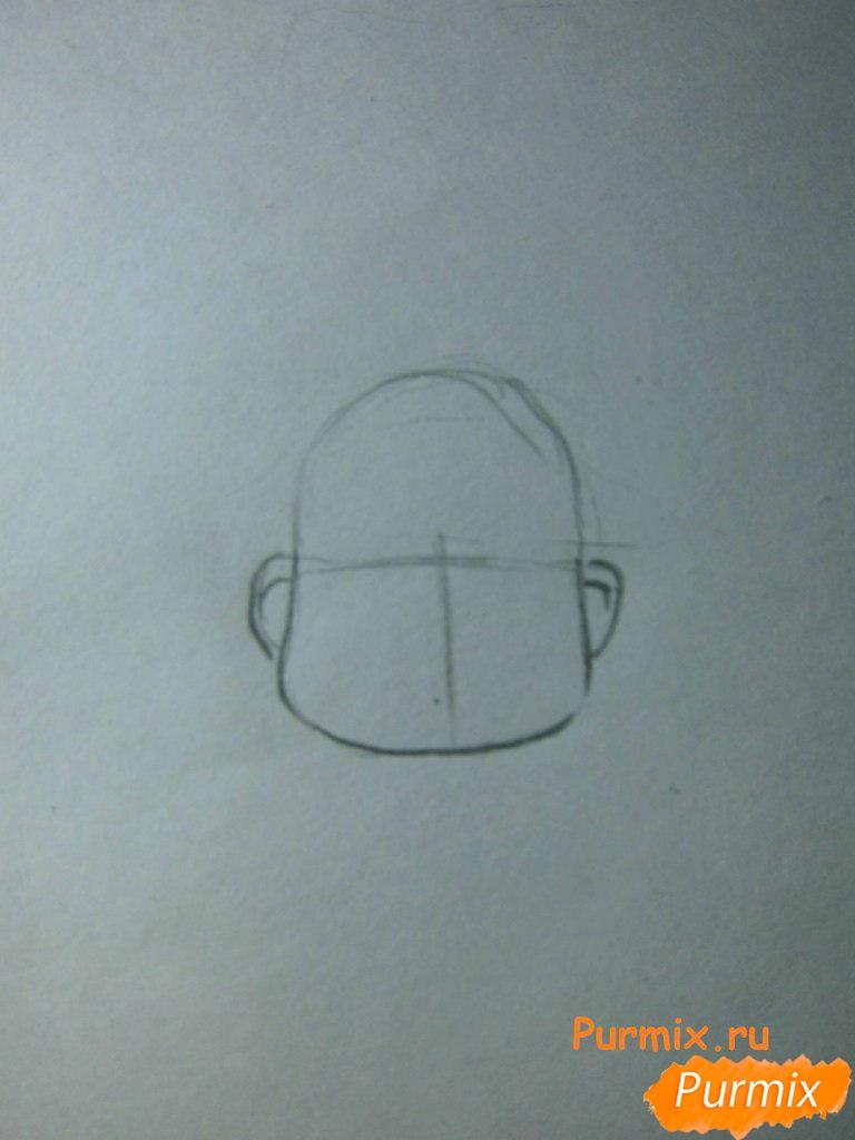 Рисуем инспектора из аниме Неуловимая воровка Рейня - шаг 1
