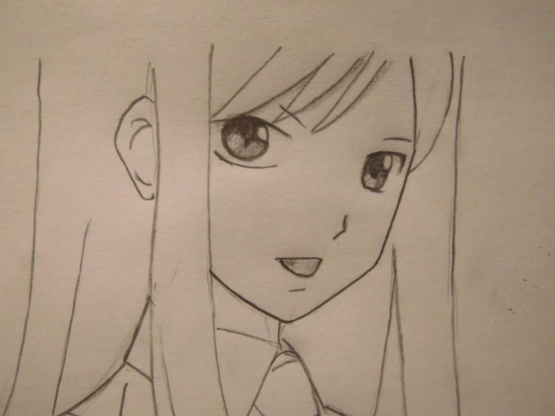 Рисуем Эльзу Скарлет из Fairy Tail