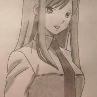 Рисунок Эльзу Скарлет из Fairy Tail