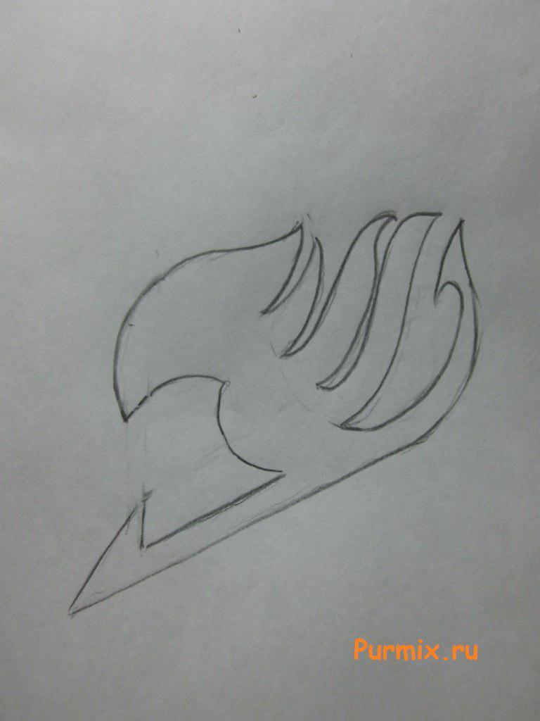 Рисуем эмблему гильдии Хвост Феи простым