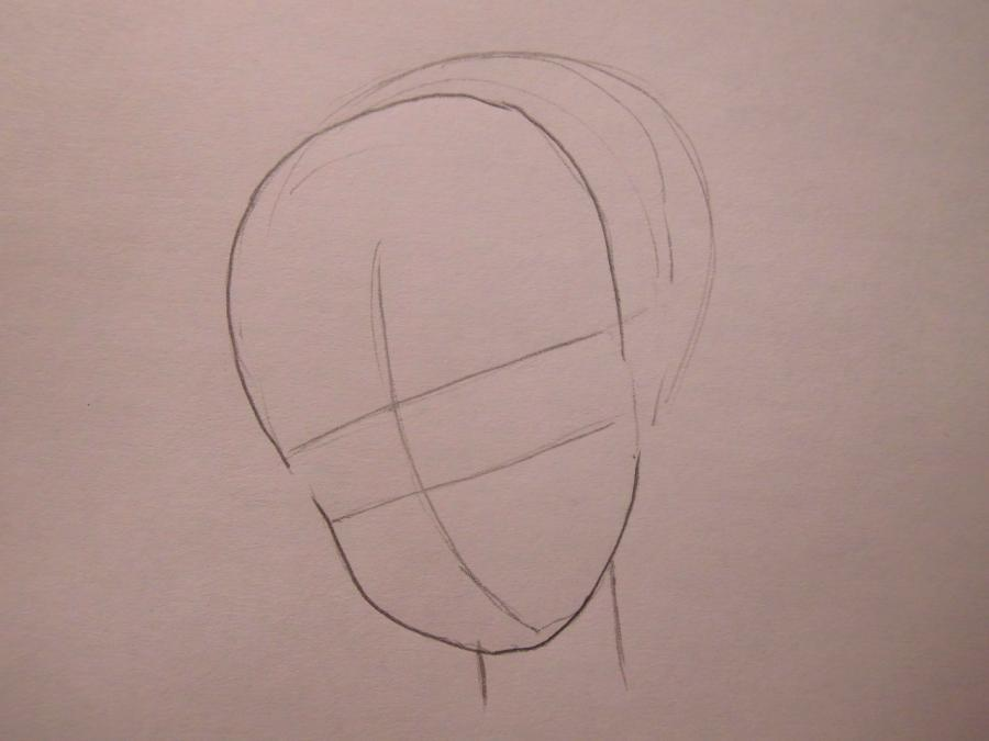 Рисуем Катару из аниме Аватар - шаг 1