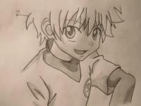 Рисунок Киллуа из аниме Охотник х Охотник