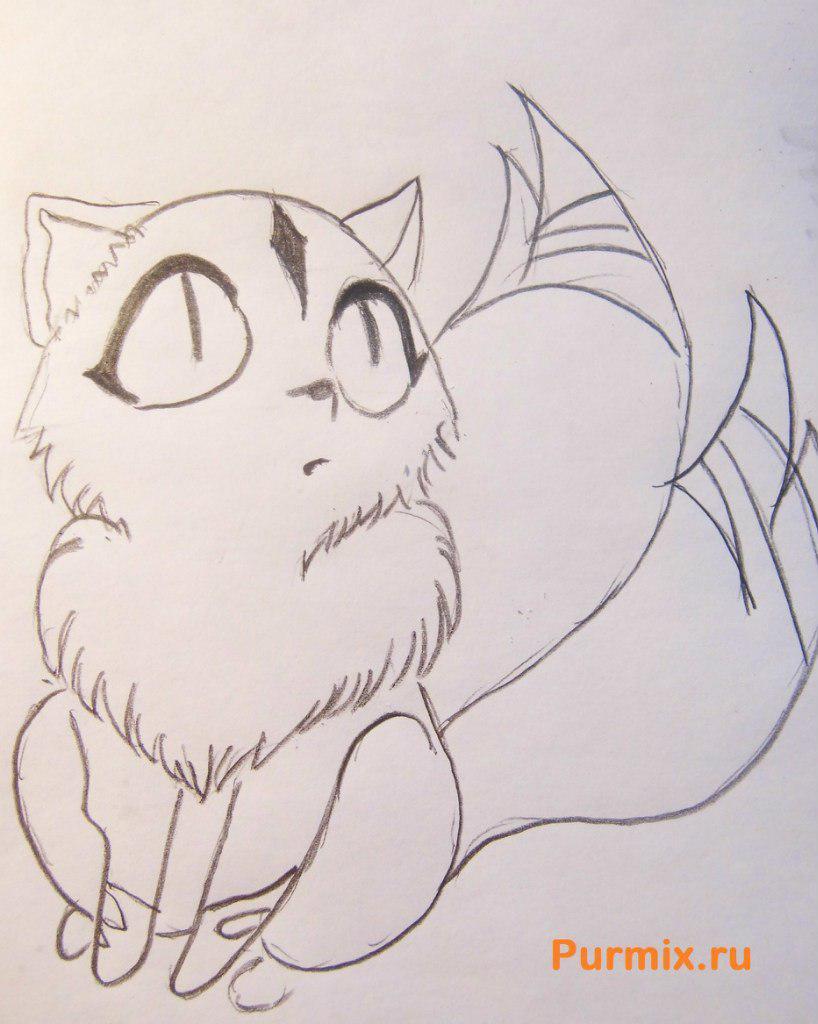 Как нарисовать Кирара из анимэ Инуяша карандашом поэтапно