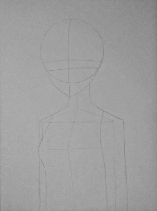 Рисуем Киришиму Тоуку из аниме Токийский гуль карандашами - шаг 3
