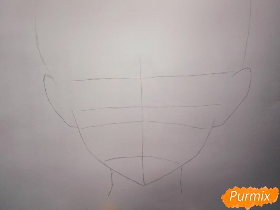 Рисуем Кирито из аниме Мастера меча онлайн - шаг 1