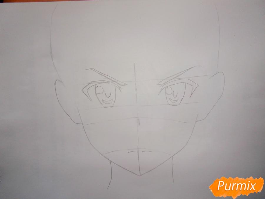 Как нарисовать Кирито из аниме Мастера меча онлайн карандашом поэтапно - шаг 2