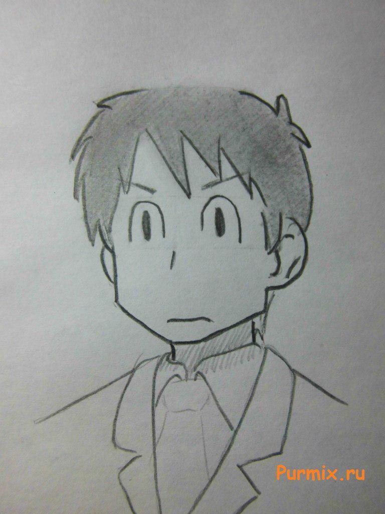 Рисуем Кэндзабуро Дайку из аниме Мелочи жизни