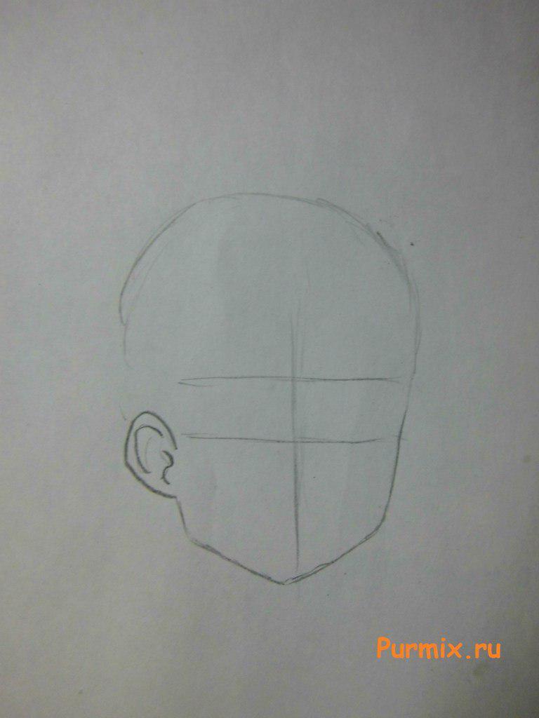 Как нарисовать Кодзиро Сасахара из Мелочи жизни поэтапно - шаг 1