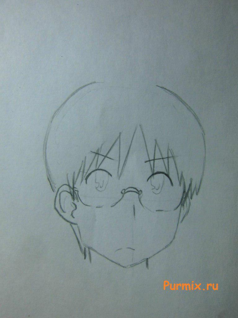 Как нарисовать Кодзиро Сасахара из Мелочи жизни поэтапно - шаг 3