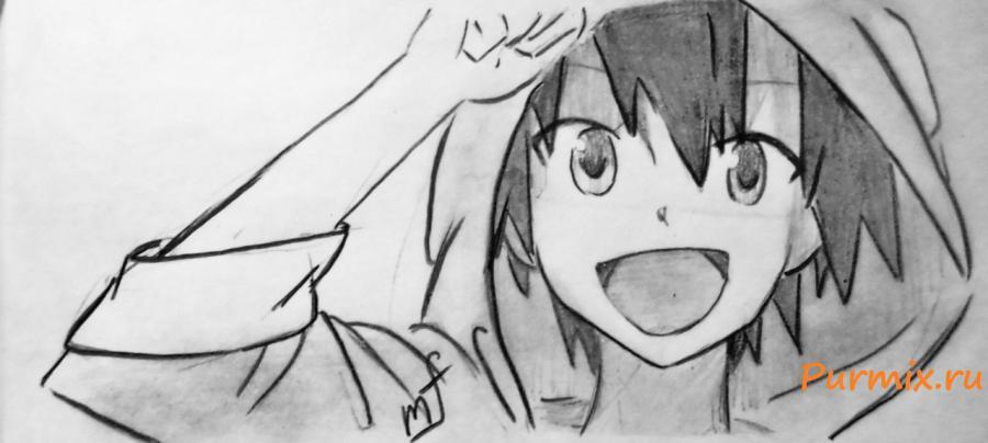 Учимся как рисовать аниме с карандашом