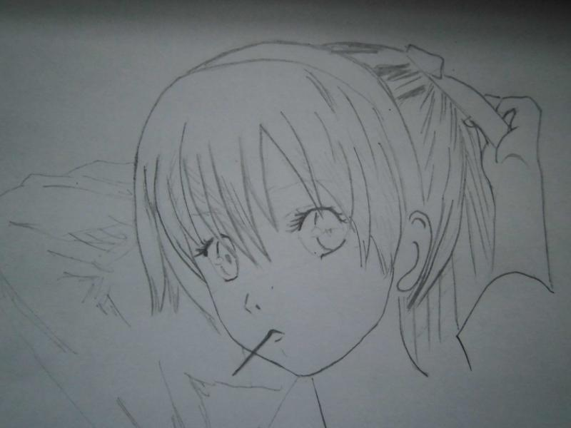 Рисуем красивую аниме девушку