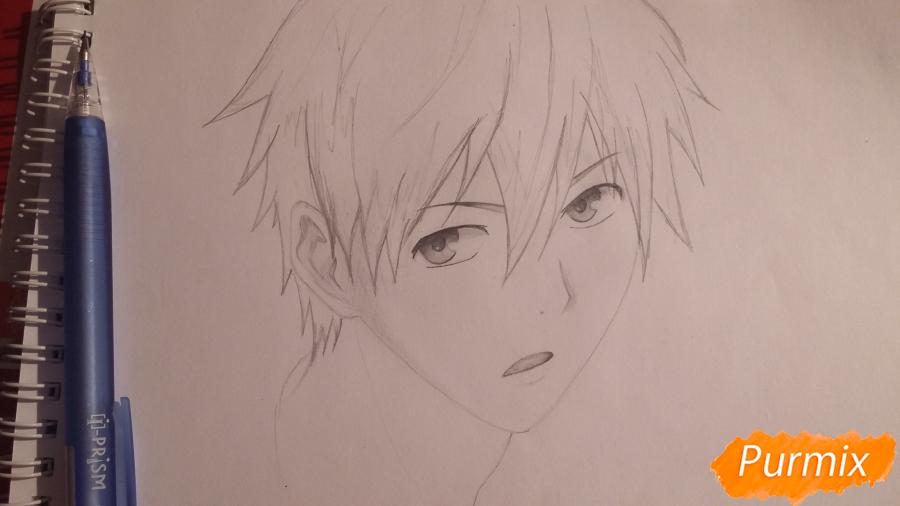 Рисуем Куроко Тецуя из аниме Баскетбол Куроко - шаг 5