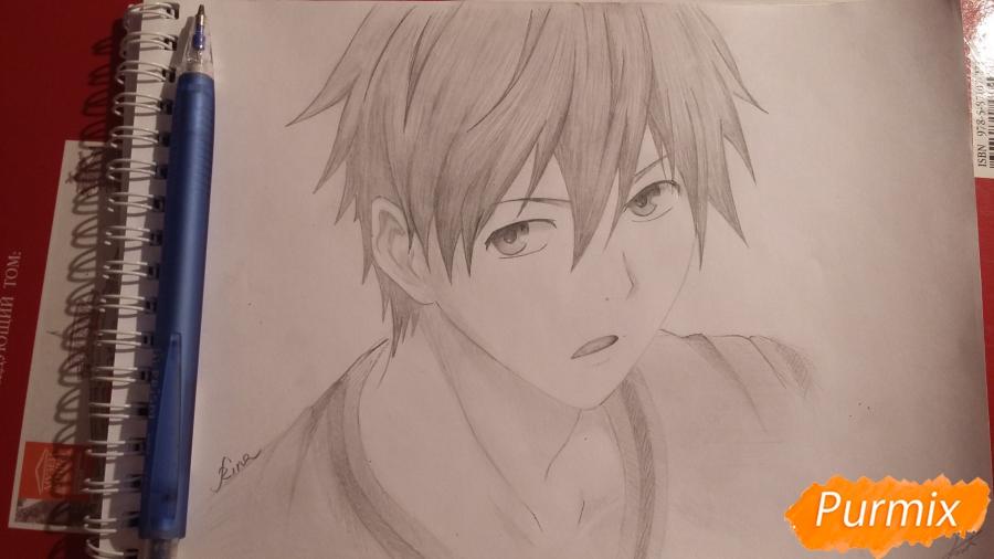 Как нарисовать Куроко Тецуя из аниме Баскетбол Куроко карандашом поэтапно