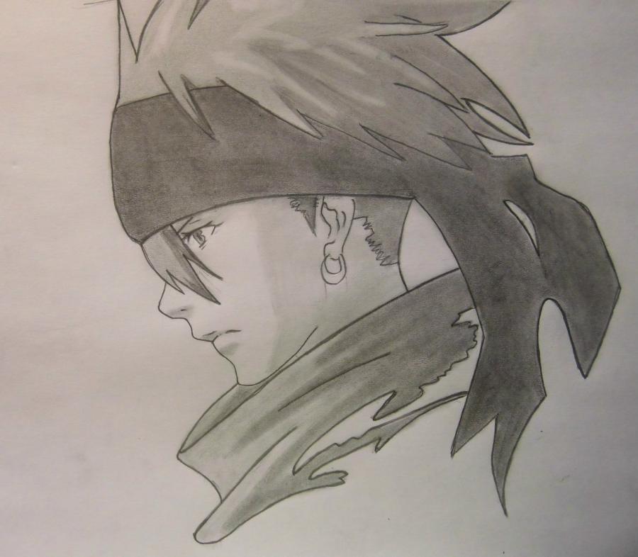 Рисуем Лави из аниме Ди.Грей - мен
