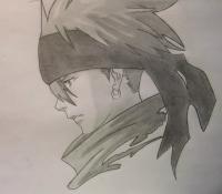 Лави из аниме Ди.Грей - мен карандашом