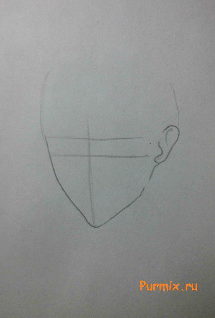 Учимся рисовать Леви Аккермана из аниме Атака Титанов - шаг 1