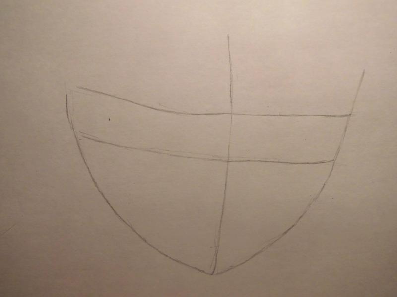 Рисуем лицо и волосы аниме девушки - шаг 1