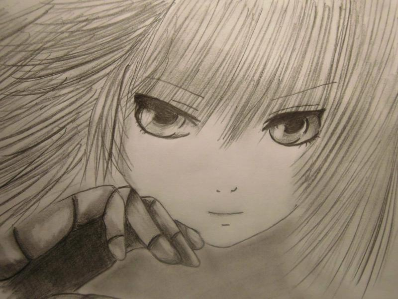 Рисуем лицо и волосы аниме девушки - шаг 7