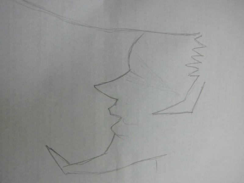 Как нарисовать лицо Рюносукэ Умемия (Рио) из Шаман Кинг